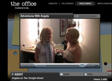 Kristina and Angela backstage at The Tonight Show